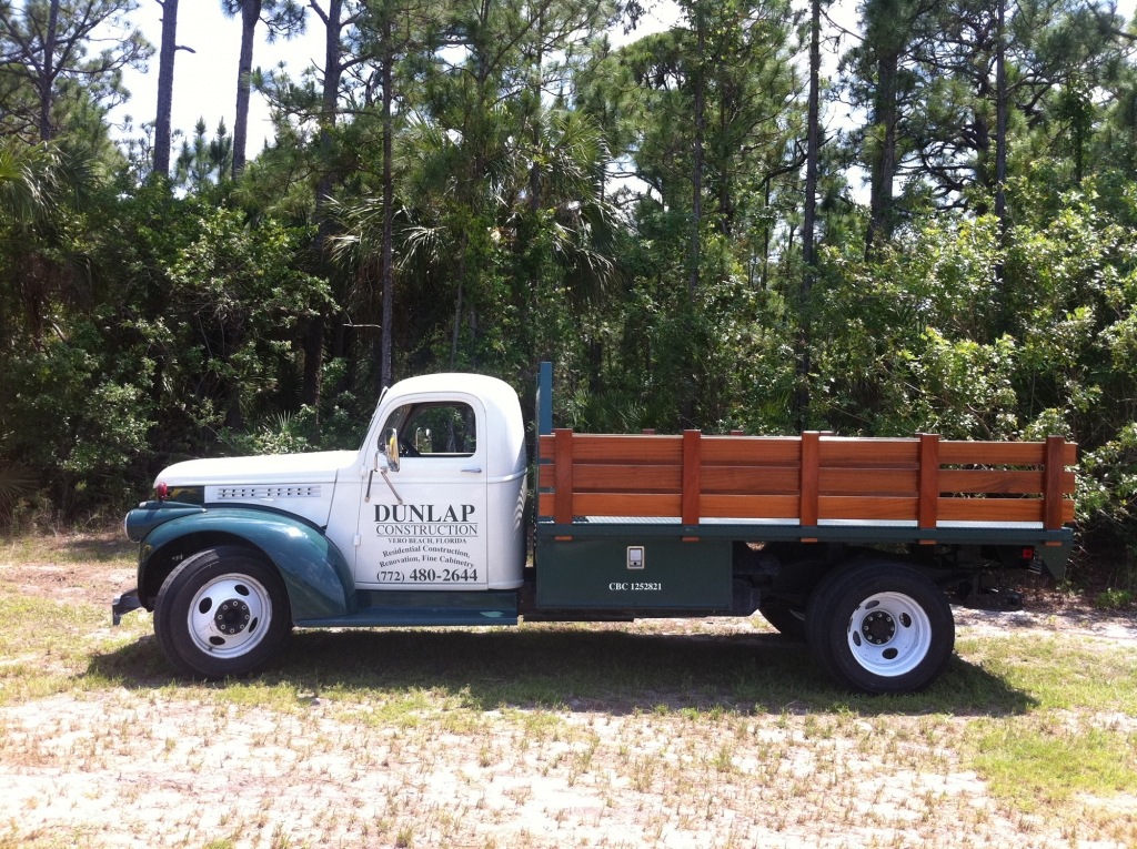 Dunlap Construction of Vero Beach Classic Truck
